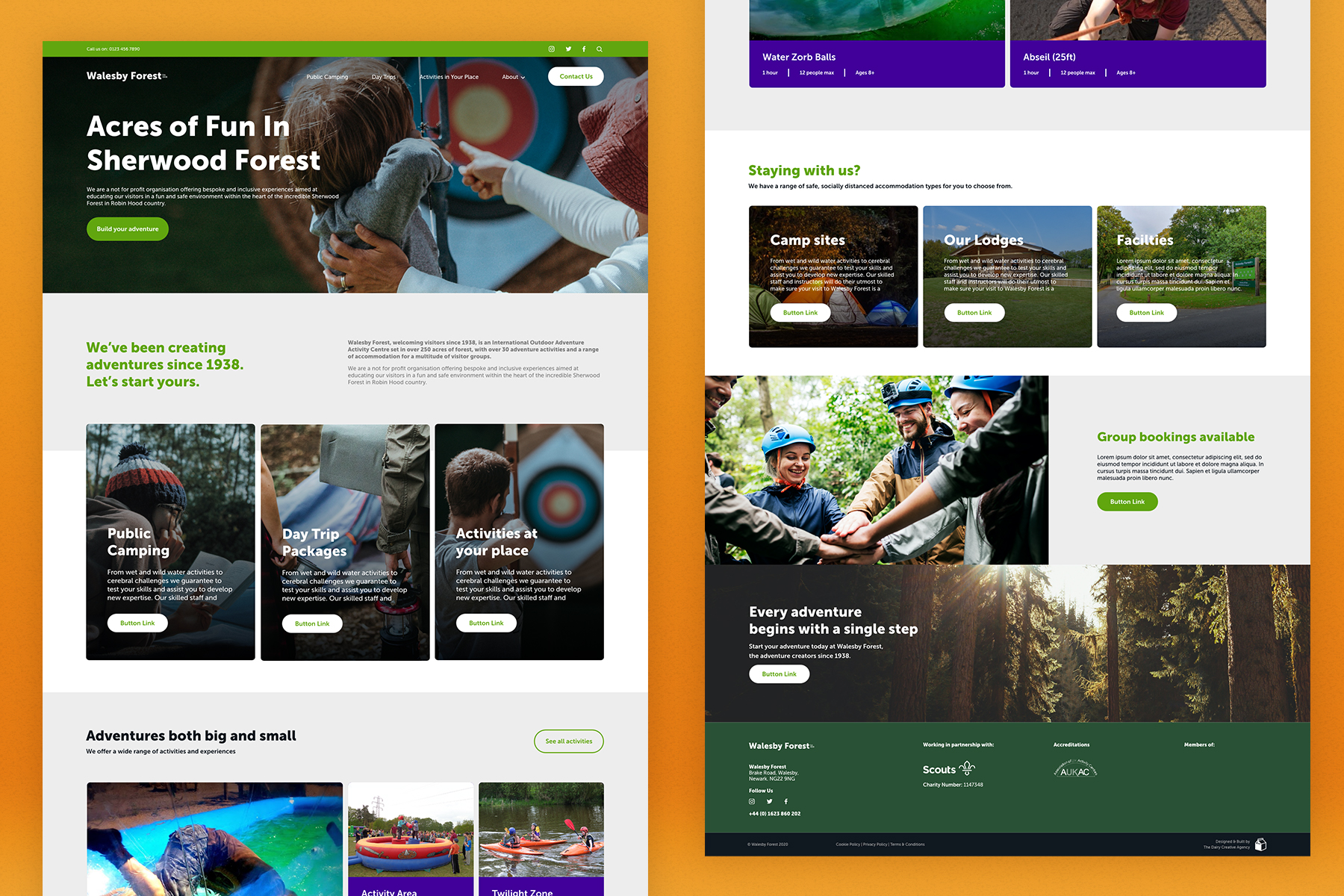 Walesby Forest Website Designs